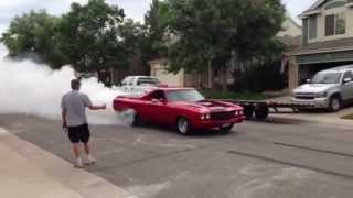 4th of July burnout rolling down the street