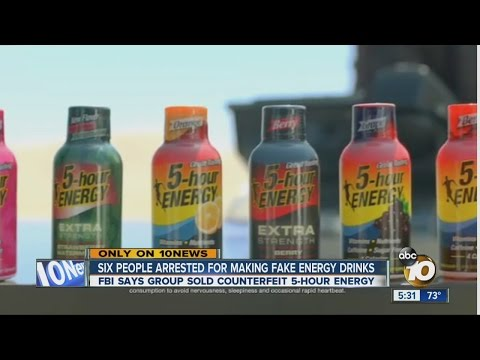 Group accused of making, selling counterfeit energy drink arrested