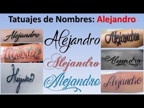 Diseños y Tatuajes de Nombres: Alejandro