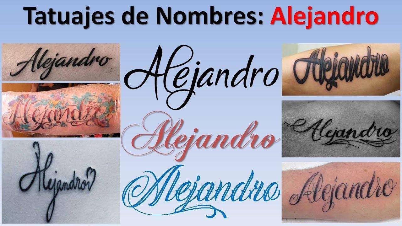 Diseños Y Tatuajes De Nombres Alejandro Youtube