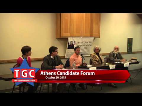 Athens Candidate Forum October 22, 2015