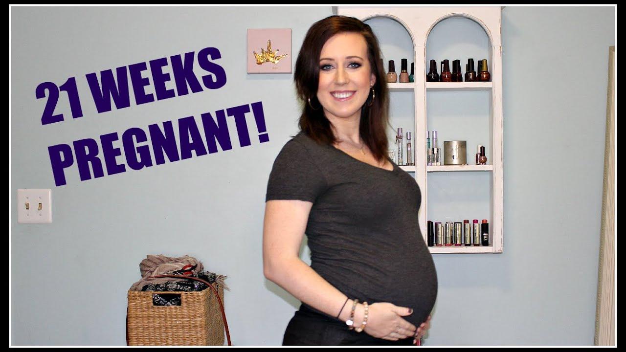 21 WEEK PREGNANCY VLOG! (braxton hicks, back pain, & belly shot!)