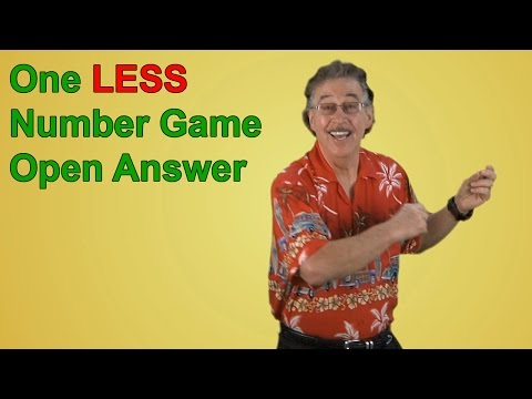Numbers Song | Counting Song | One LESS Number Game Open Answer | Jack Hartmann