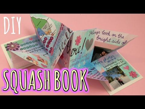 DIY SQUASH BOOK // Penpal Letter Idea