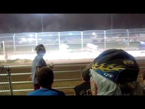 Plymouth Dirt Track 410 sprints push start