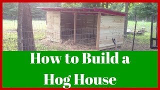 American Guinea Hogs (agh): How To Build A Hog House (or How I Did, Anyway!)