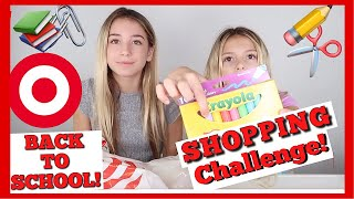 Back to school | Target shopping challenge ! Tiny School Supplies | Mermaid |  Quinn Sisters