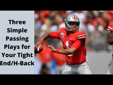 Three Simple Passing Plays for Your Tight End/H-Back
