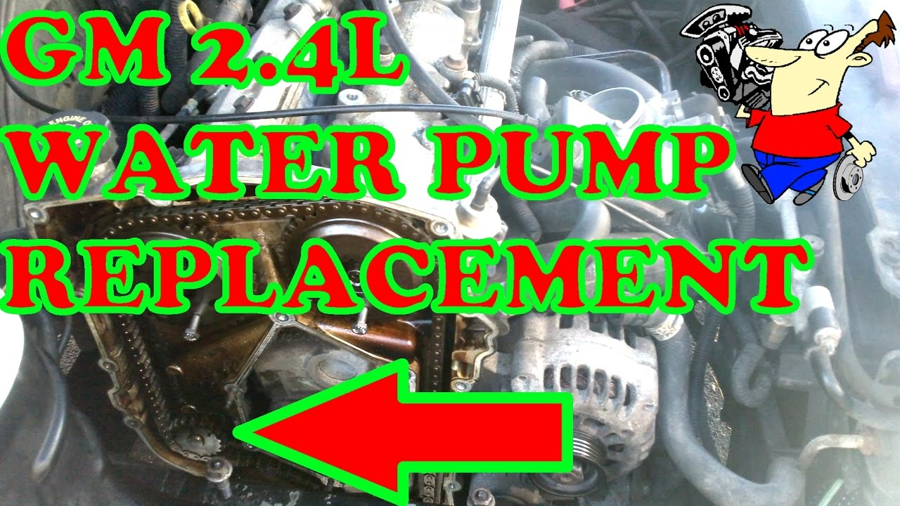 hight resolution of gm 2 4l water pump replacement