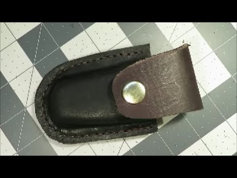 my first leather project