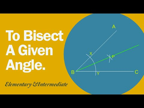 How To Bisect A Given Angle