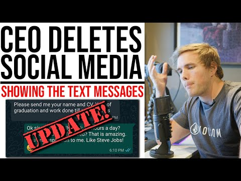 UPDATE! CEO deletes all social media! (Showing The Text Messages) - #india