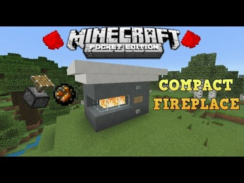 17 Working Compact Fireplace [Redstone Tutorial]//MCPE(Minecraft ...