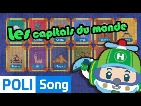 Robocar Poli | Les capitals du monde | chansons pour enfants