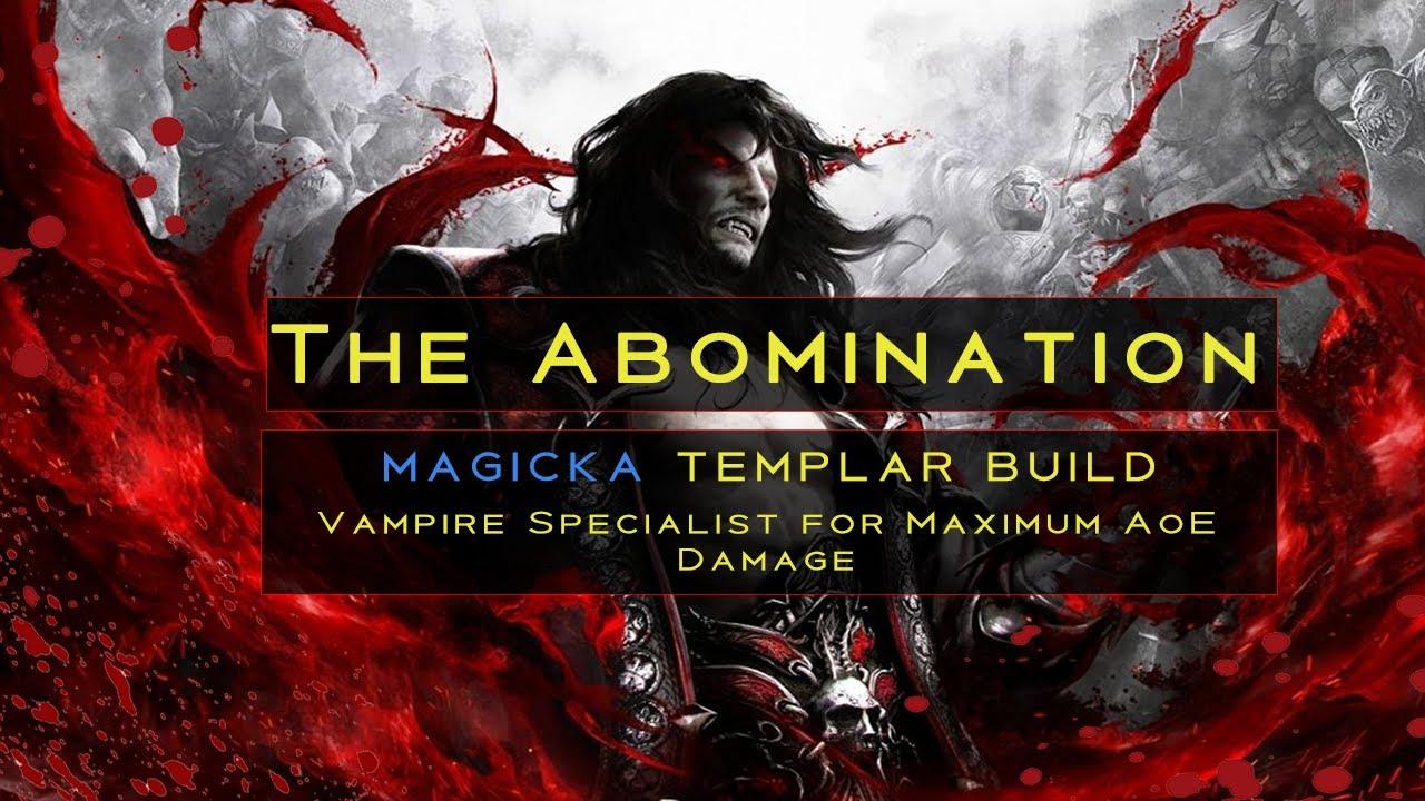 'The Abomination' Vampire / Magicka Templar PvP Build | Greymoor Patch
