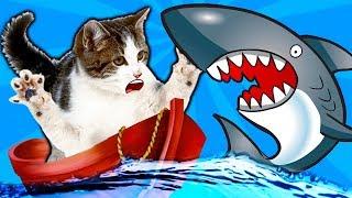 2 КОТЕНОК РЫБОЛОВ симулятор кошачьей рыбалки видео про маленького котенка как мультик игра от фгтв