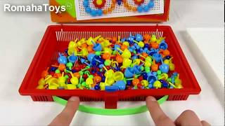 Видео обзор игрушки. Детская Мозаика Quercetti 0950. Развивающий набор