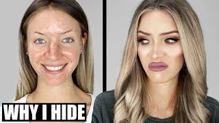 why I hide my ugly face behind makeup...