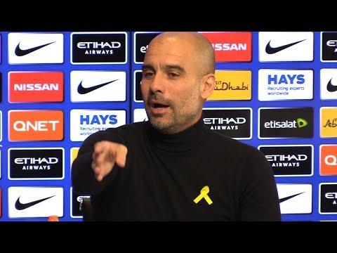 Pep Guardiola Pre-Match Press Conference - Manchester City v West Ham - Embargo Extras