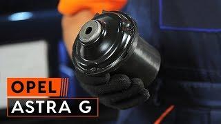 Como substituir uma montagem de amortecedor dianteiro no OPEL ASTRA G [TUTORIAL]