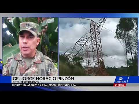 Atribuyen al Eln atentado contra torres de energía en Nariño