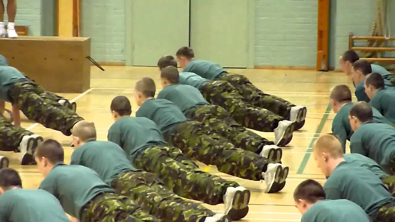 Royal Marine Recruits 127 Troop in the Gym - 1 - YouTube