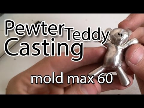 Teddy Bear pewter casting (mold max 60)