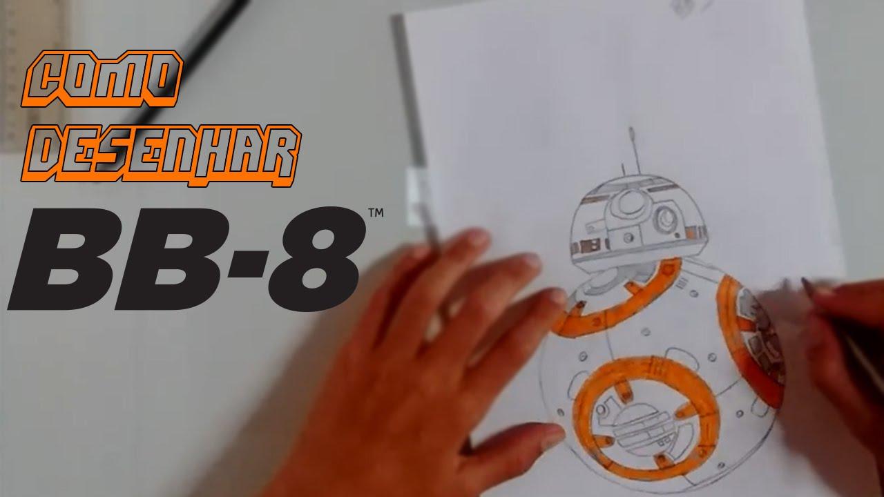 como desenhar o bb 8 droid star wars vii youtube