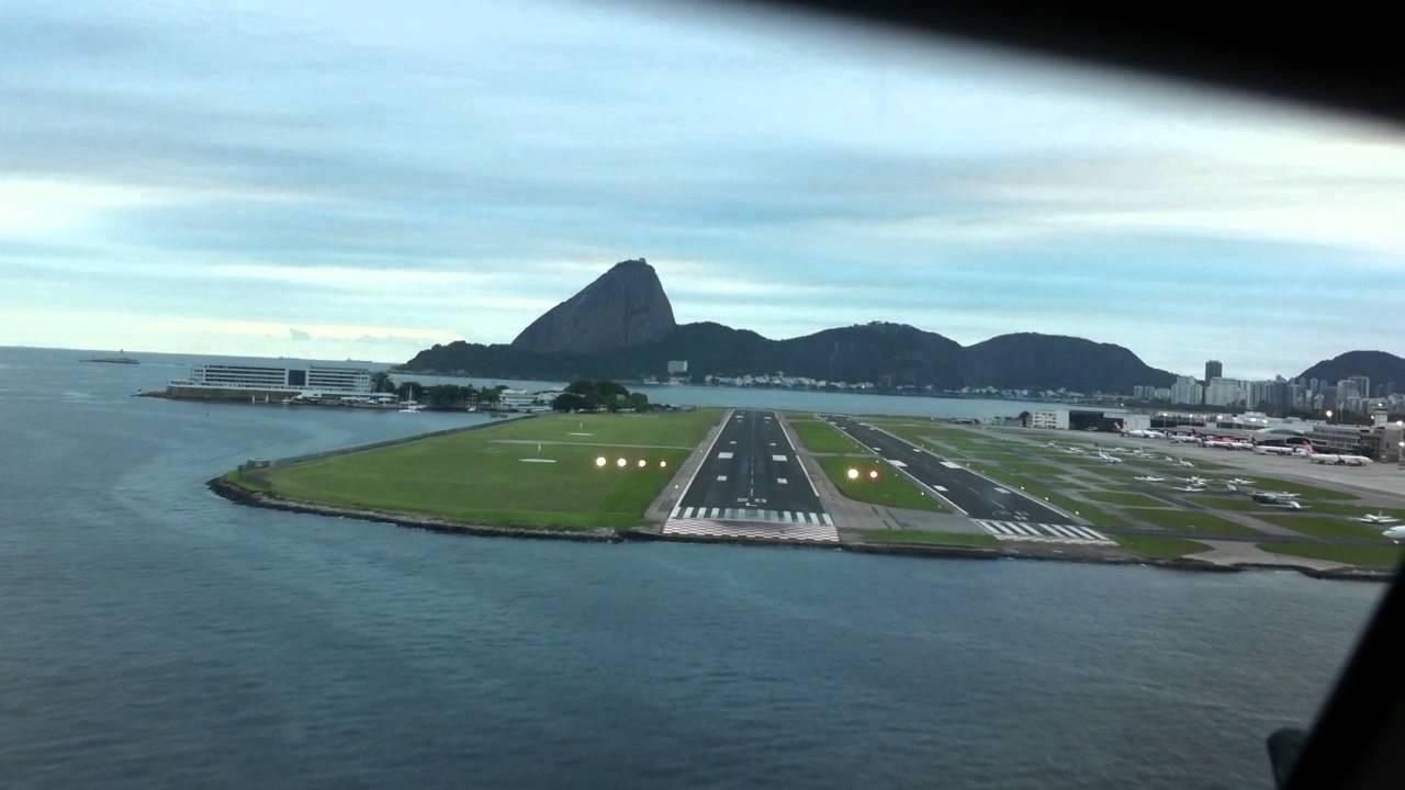 Aeroporto Santos Dumont : Pouso do airbus no santos dumont rio de janeiro youtube