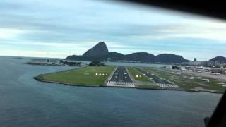 Pouso do Airbus no Santos Dumont no Rio de Janeiro
