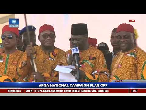 APGA Presents Party Flag To Presidential Candidate, John Gbor |Live Event|