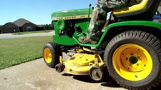 John Deere 140, 300 series Mower Deck and Model 33 Tiller Install and Removal
