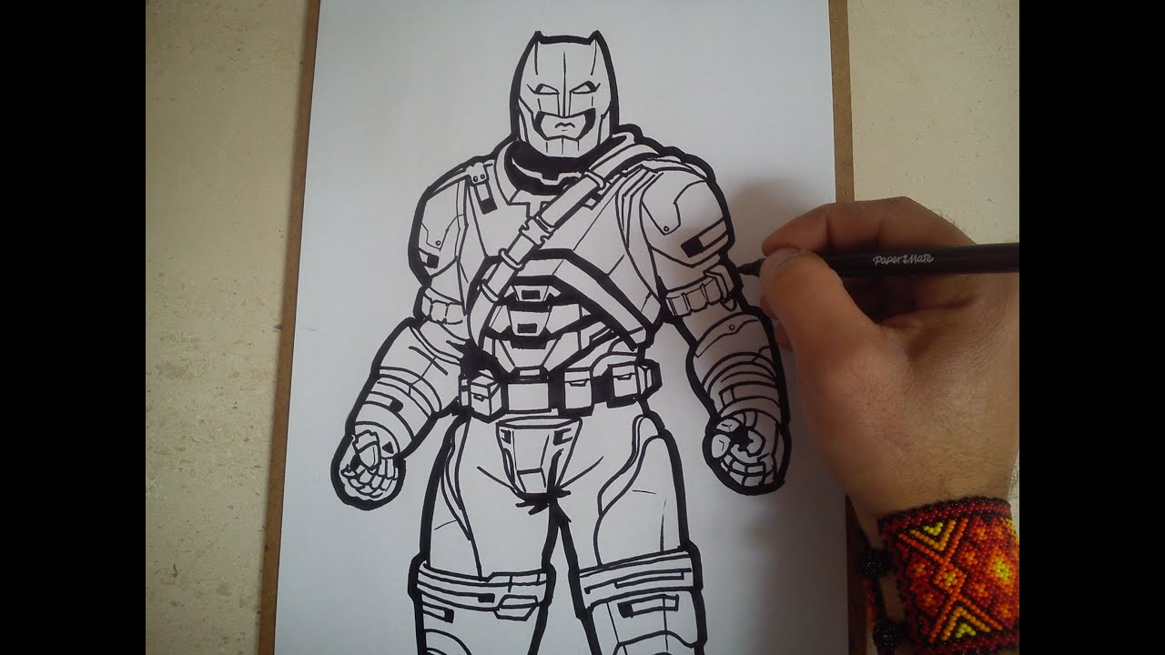Como Dibujar A Batman Armadura De Batman Vs Superman Speed