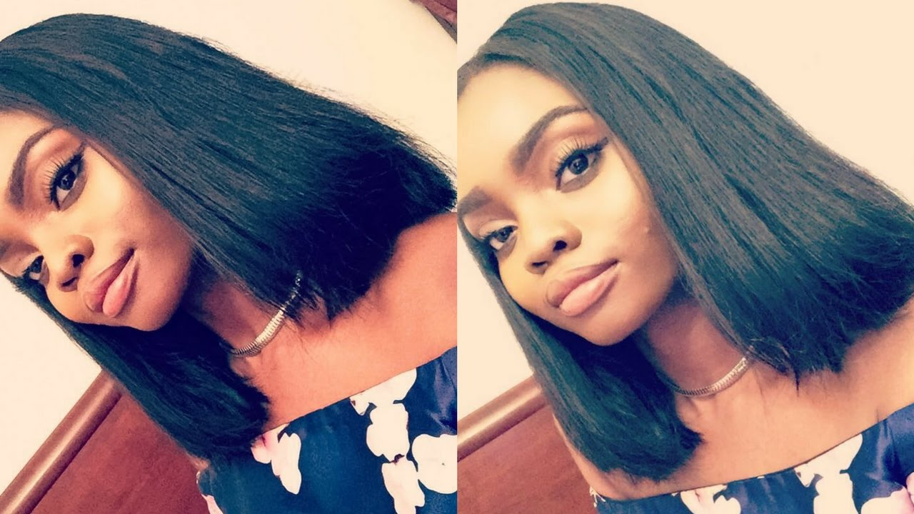 Diy blunt bob with a closure quick weave youtube diy blunt bob with a closure quick weave solutioingenieria Image collections