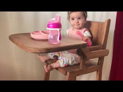 Ahşap mama sandalyesi ( Wooden baby high chair )