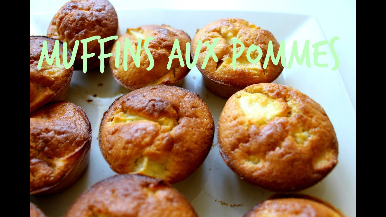 recette muffins aux pommes youtube. Black Bedroom Furniture Sets. Home Design Ideas