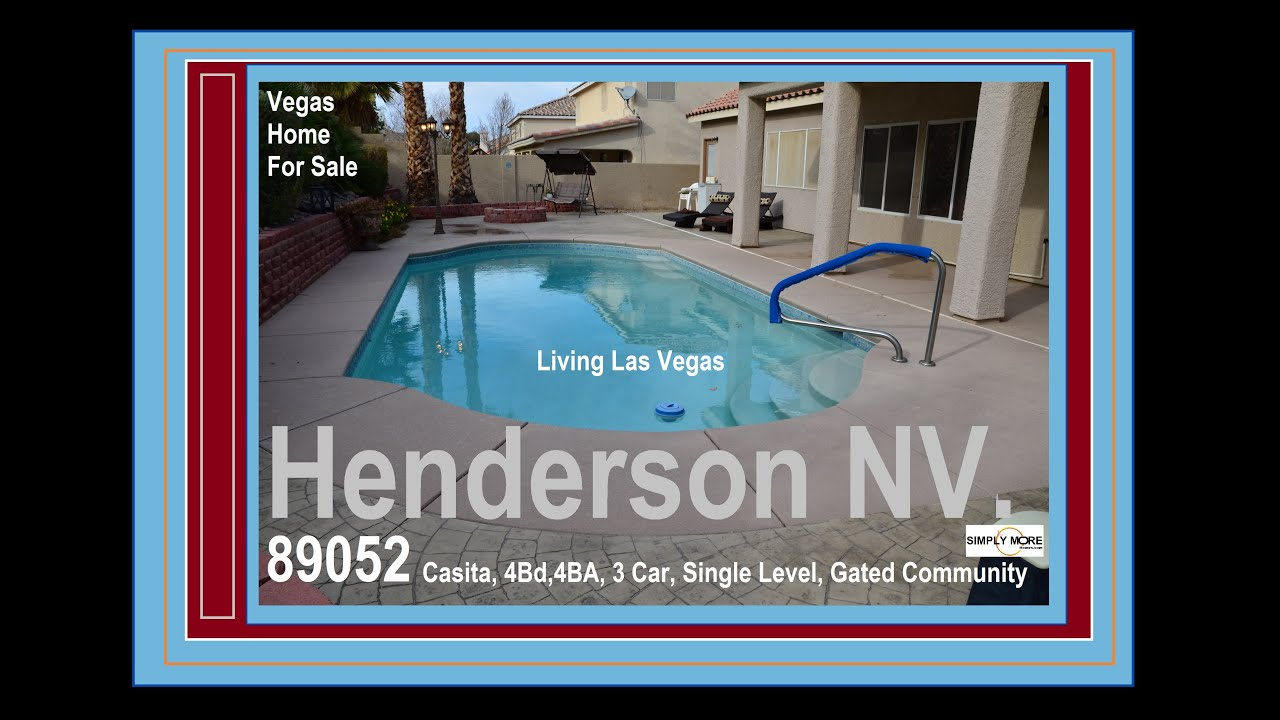 henderson gated with pool and casita near lake las vegas
