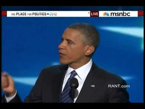RANT.com FULL 2012 Barack Obama DNC speech 9.7.2012