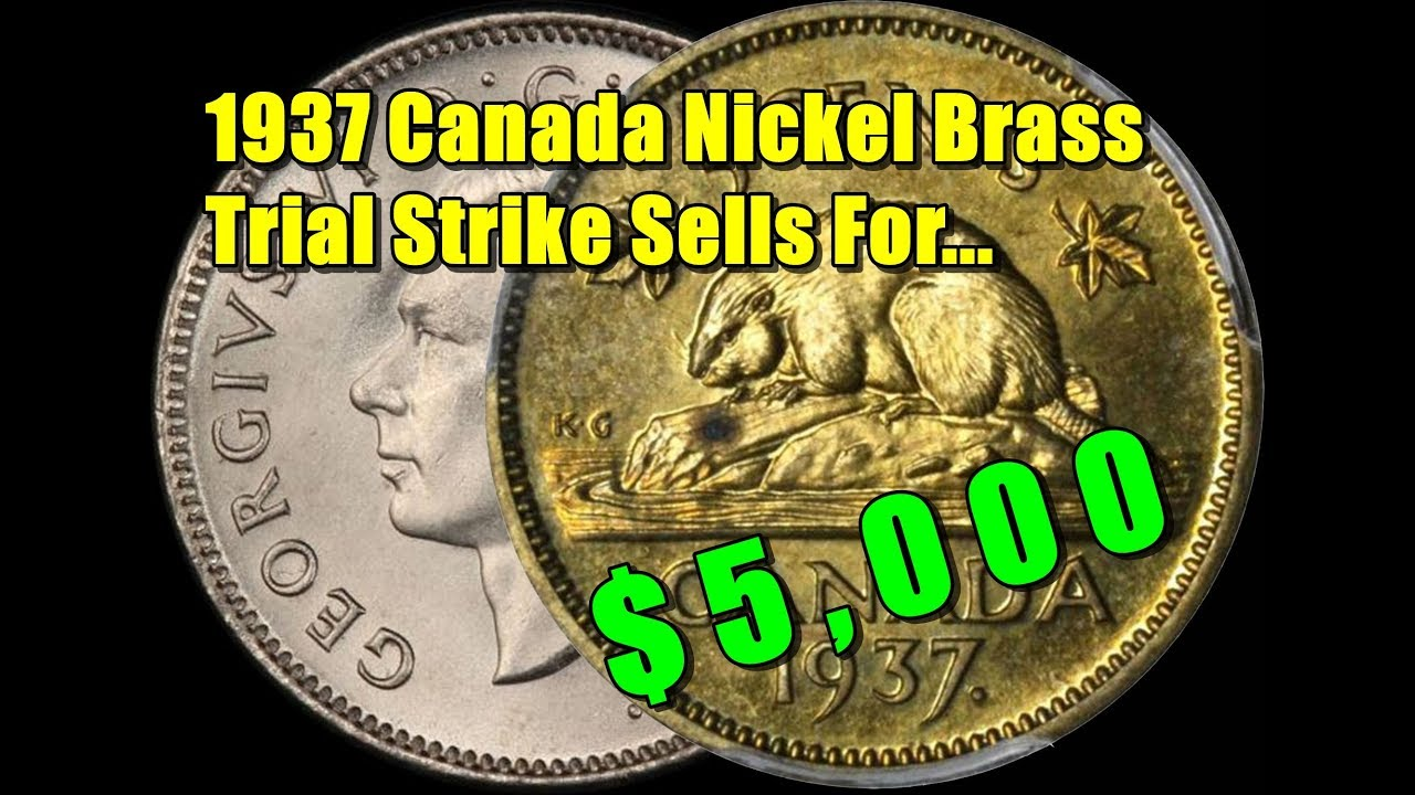 YOU'RE NOT SEEING THINGS   A 1937 Canada Nickel Sold For $5,000? Mint Error?