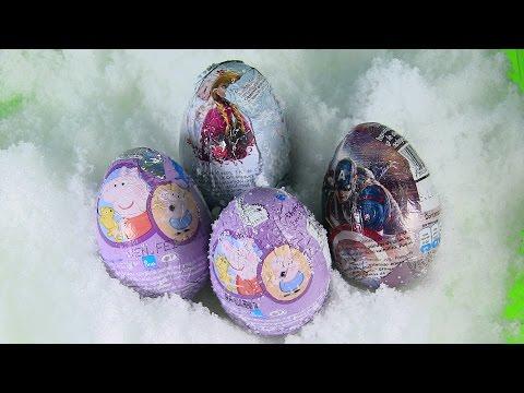 ❤Chị Bí Đỏ Tìm Trứng Sôcola & Đồ Chơi Bất Ngờ Dưới Tuyết / Chocolate Eggs Surprise Peppa Pig Frozen