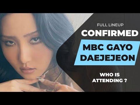 MBC GAYO DAEJEJEON 2020 CONFIRMED LINEUP | MBC GAYO DAEJEJEON PERFORMERS LIST |