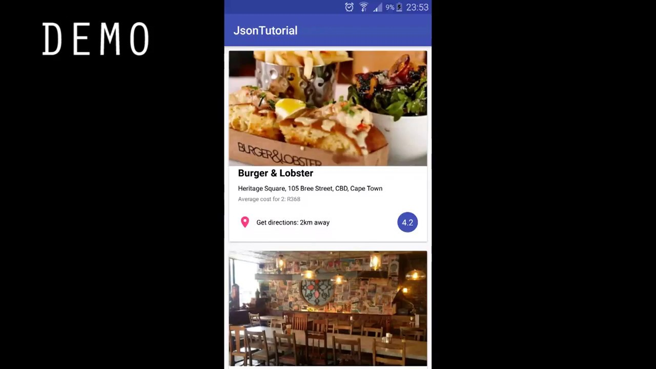 pulling json data into a recyclerview