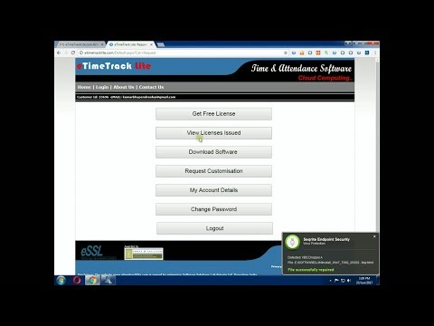 How To essl etimetracklite 9 8 Desktop Software Download and Install With  License Key ( Tutorial )