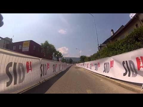 Tour de Suisse Stage 6 final Km on board camera. IT'S NARROW!!