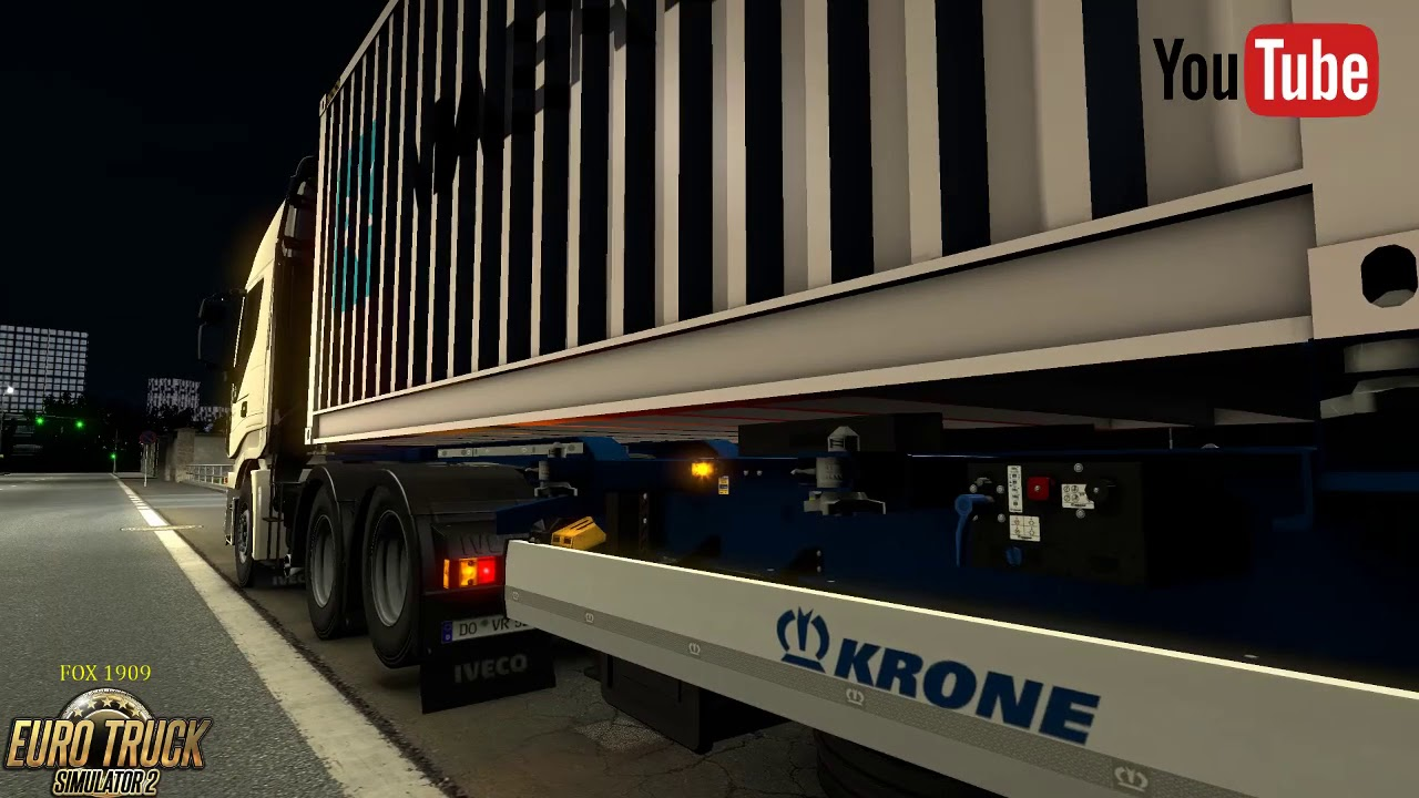 (ETS2 v 1 32) Krone container 2x20ft by SCS Software , MDModding