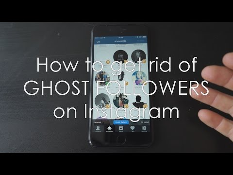 How to get rid of GHOST FOLLOWERS on INSTAGRAM!