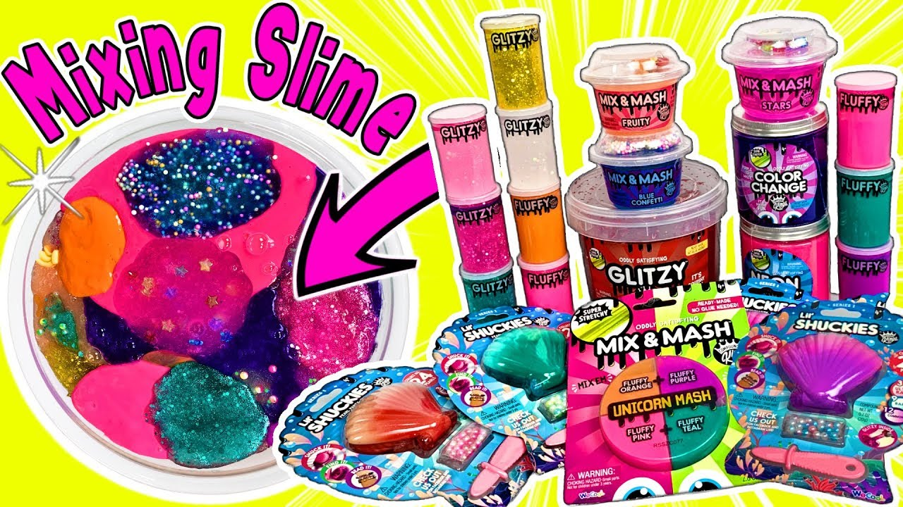 Mixing Slime Compound Kings Slimes Fluffy Slime Crunchy