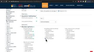 Cetak Soalan Kuiz atau Kertas Peperiksaan dalam UKMFolio