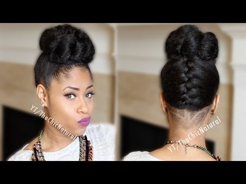 Fab French Braided Bun Updo [On Natural Hair]