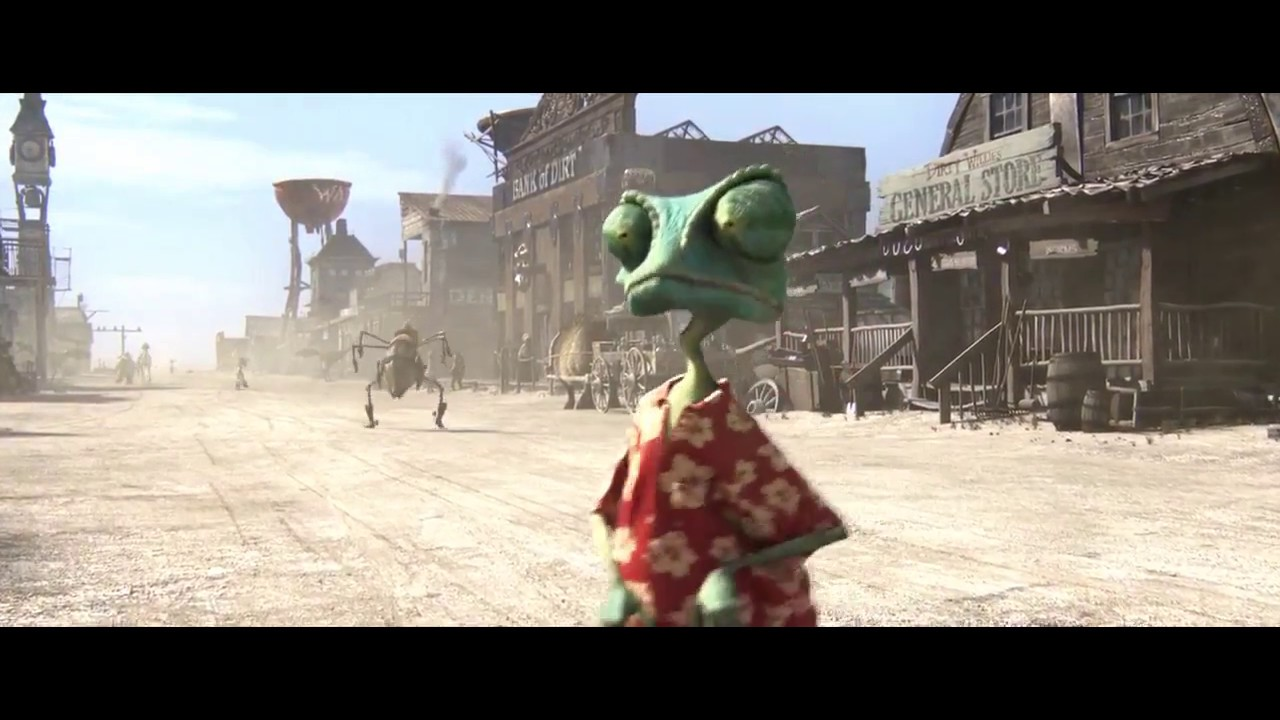 Download Lizard Rango in town is learning to walk, how similar!